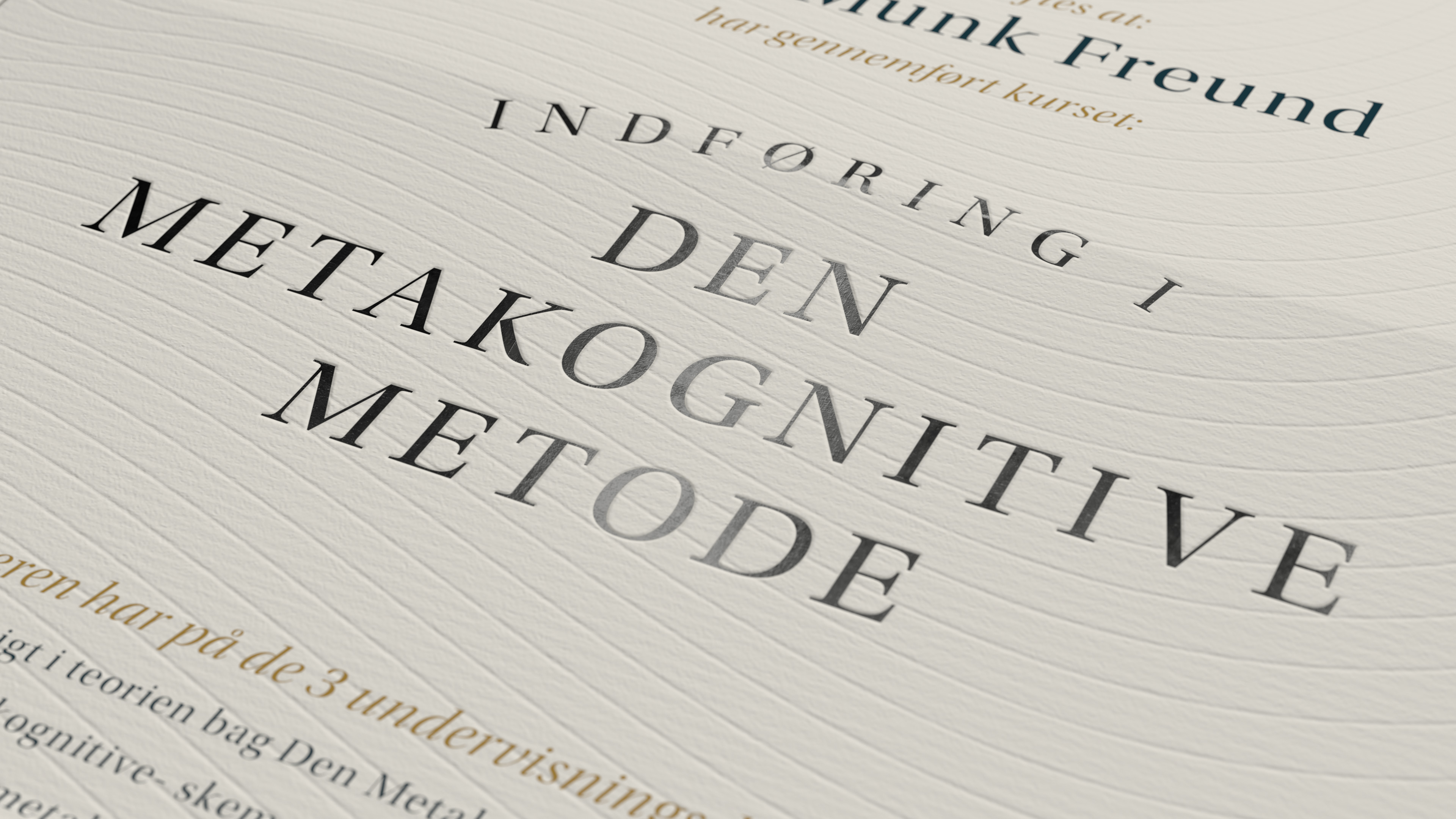 Indføring i Den Metakognitive Metode